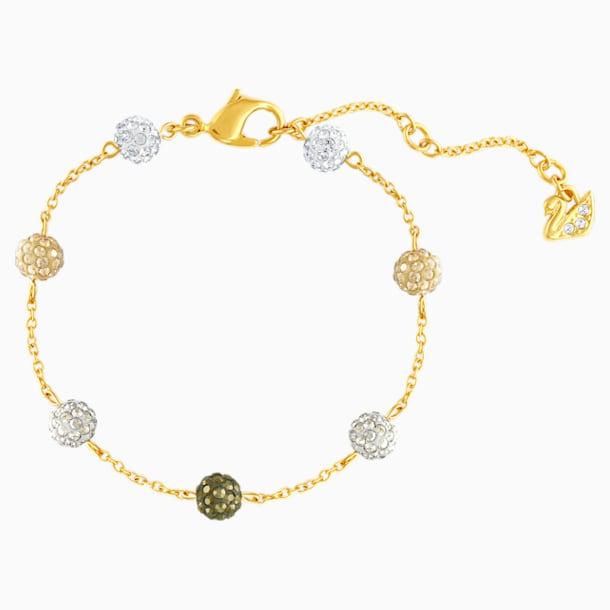 Blow Bracelet, Multi-colored, Gold-tone plated - Swarovski, 5528202