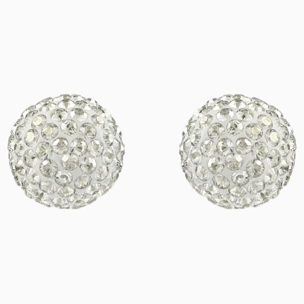 Blow Pierced Earrings, Gray, Mixed metal finish - Swarovski, 5528455