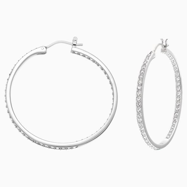 Sommerset 穿孔耳环, 白色, 镀铑 - Swarovski, 5528457