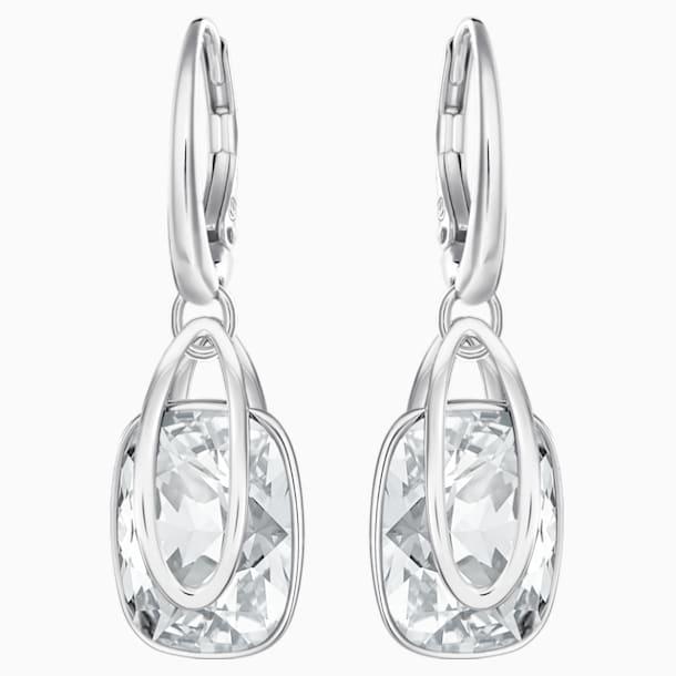 Holding Pierced Earrings, White, Rhodium plated - Swarovski, 5528487