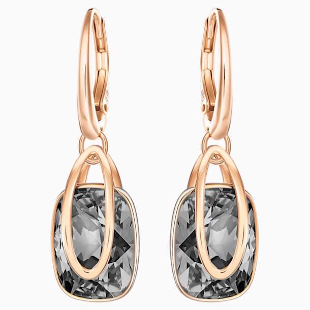 Pendientes Holding, negro, Baño en tono Oro Rosa - Swarovski, 5528488