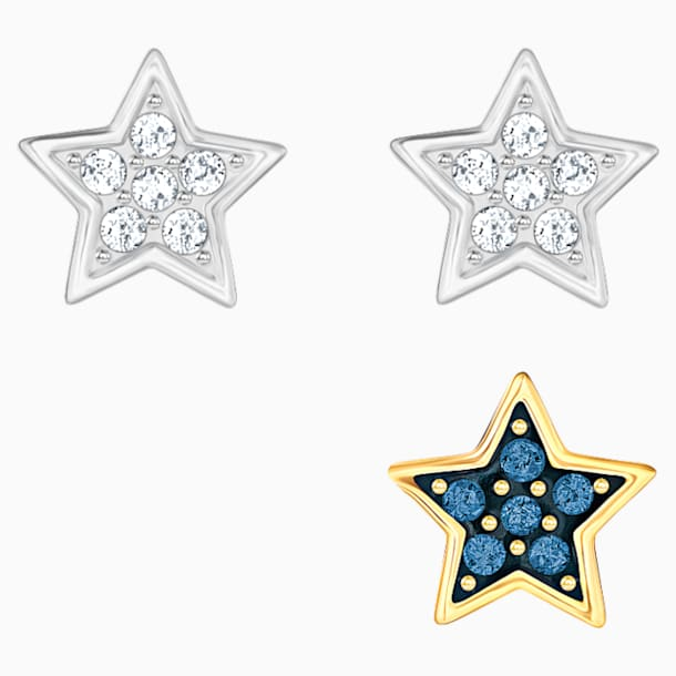 Set Orecchini a buco Crystal Wishes Star, multicolore, Mix di placcature - Swarovski, 5528498