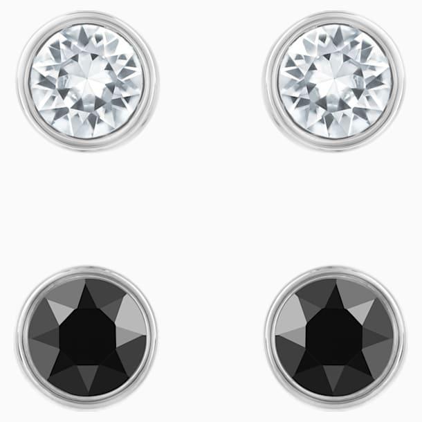 Harley 穿孔耳环套装, 黑色, 镀钌 - Swarovski, 5528506