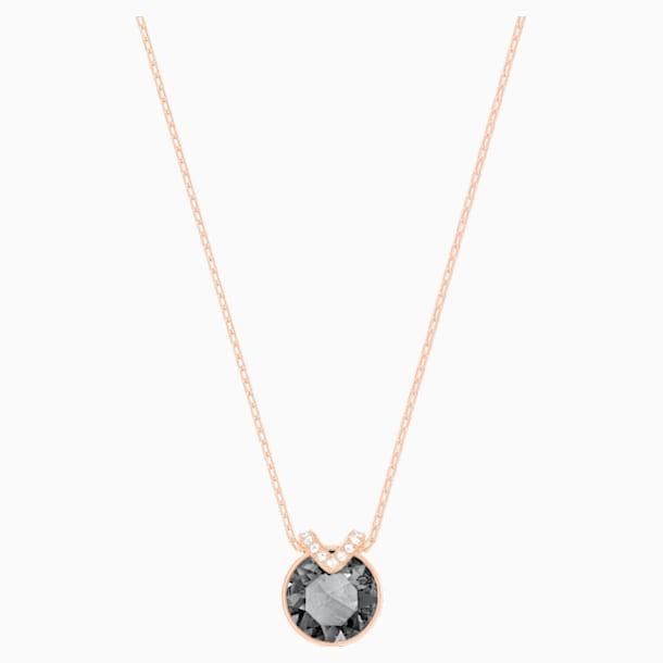 Bella V 鏈墜, 黑色, 鍍玫瑰金色調 - Swarovski, 5528552