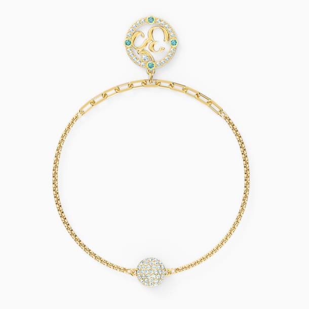 Swarovski Remix Collection Om Strand, Light multi-colored, Gold-tone plated - Swarovski, 5528717