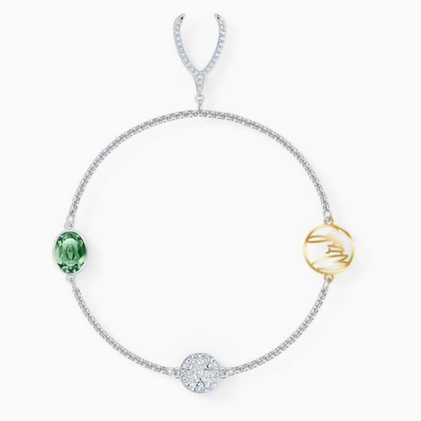 Strand Swarovski Remix Collection Wishbone, verde, placcato rodio - Swarovski, 5528718