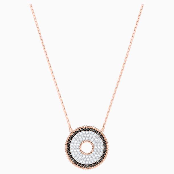 Collana Lollypop, nero, Placcato oro rosa - Swarovski, 5528723