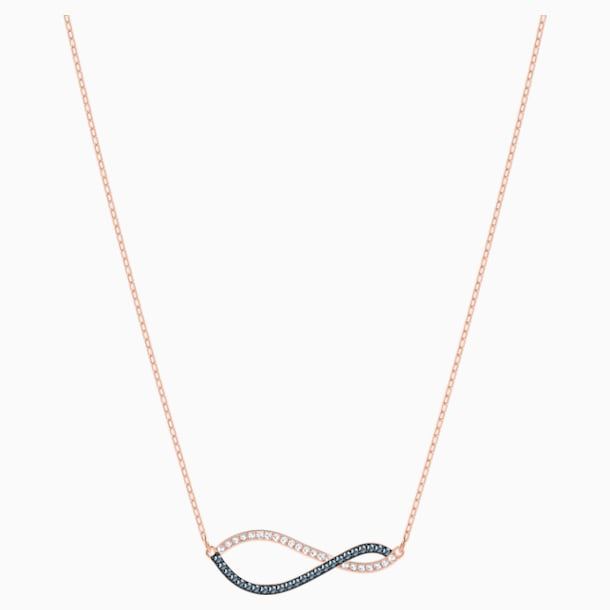 Lemon Necklace, Multi-colored, Rose-gold tone plated - Swarovski, 5528730