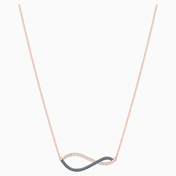 Lemon Necklace, Multi-colored, Rose-gold tone plated - Swarovski, 5528730