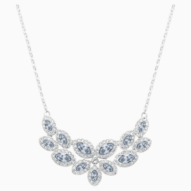 Baron Necklace, Blue, Rhodium plated - Swarovski, 5528900