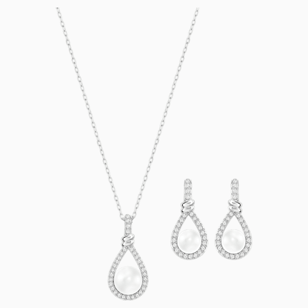 Enlace Set, White, Rhodium plated - Swarovski, 5528959