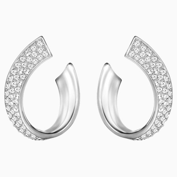 Exist 穿孔耳环, 白色, 镀铑 - Swarovski, 5529348