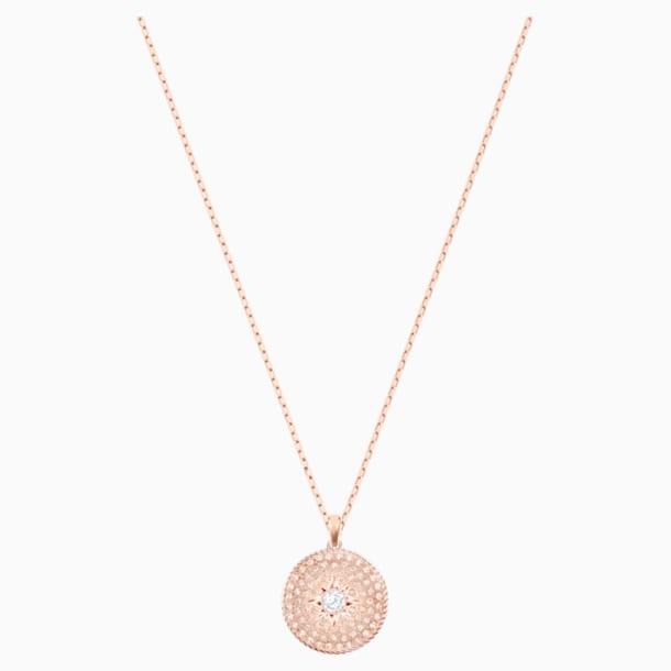 Colgante Locket, rosa, Combinación de acabados metálicos - Swarovski, 5529372
