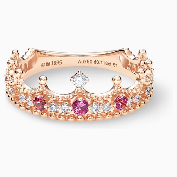 女王宣言18K玫瑰金粉红蓝宝石钻石戒指 - Swarovski, 5529708