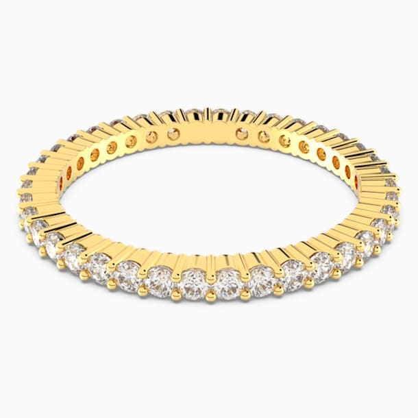 Vittore Ring, White, Gold-tone plated - Swarovski, 5531163