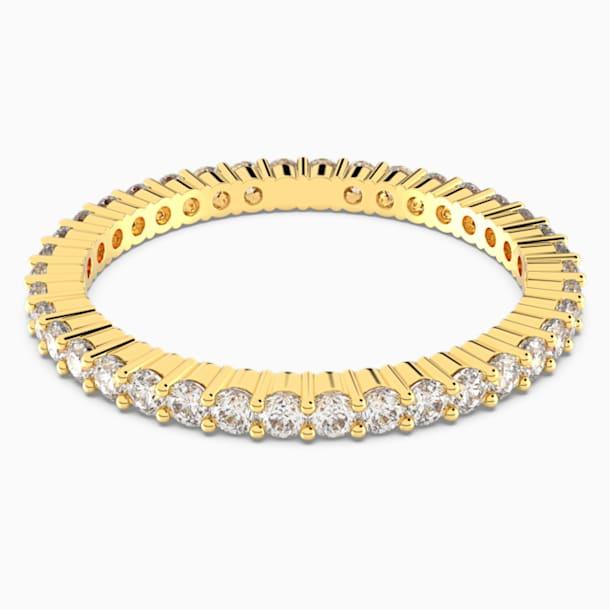 Δαχτυλίδι Vittore, λευκό, επιχρυσωμένο σε χρυσή απόχρωση - Swarovski, 5531165