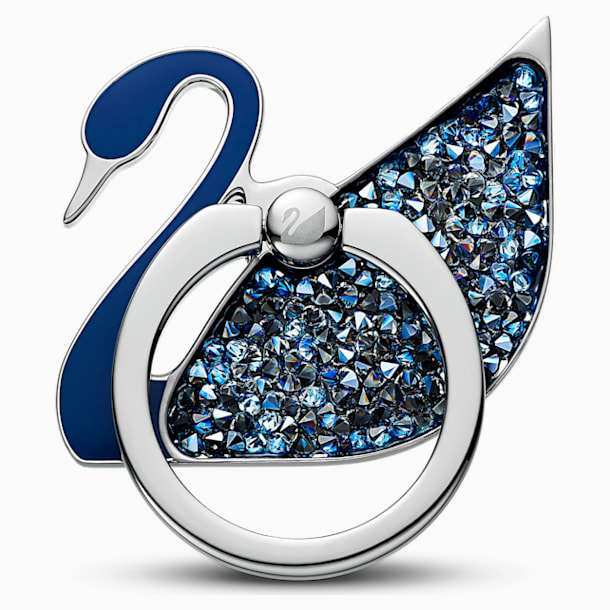스와로브스키 스완 링 스티커 Swarovski Swan Ring Sticker, Blue, Stainless steel