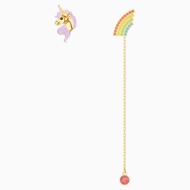 Out of this World Unicorn Серьги, Многоцветный Кристалл, Покрытие оттенка золота - Swarovski, 5531528