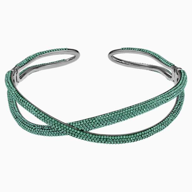Tigris Choker, Green, Ruthenium plated - Swarovski, 5532477