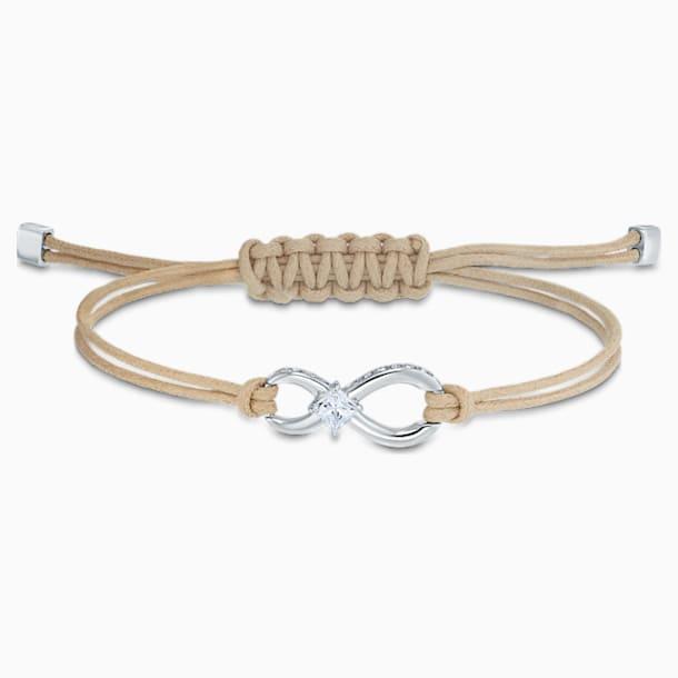 Náramek Swarovski Infinity, béžový, rhodiovaný - Swarovski, 5533725