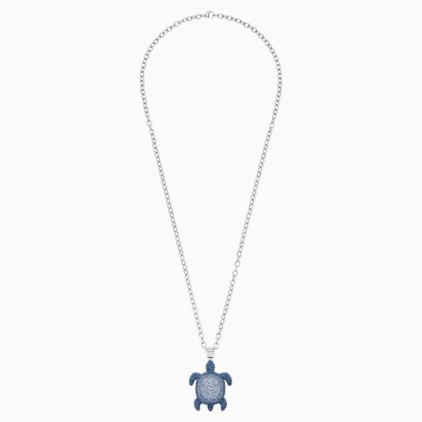 Přívěsek se želvou Mustique Sea Life, malý, modrý, s palladiovým povrchem - Swarovski, 5533756