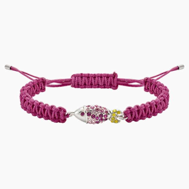 Mustique Sea Life Fish Bracelet, Pink, Palladium plated - Swarovski, 5533758