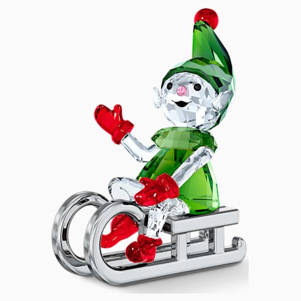 Elfe du Père Noël sur luge - Swarovski, 5533947