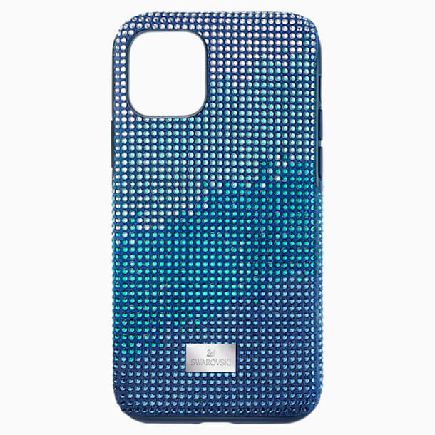 Crystalgram Smartphone Case with Bumper, iPhone® 11 Pro, Blue - Swarovski, 5533958