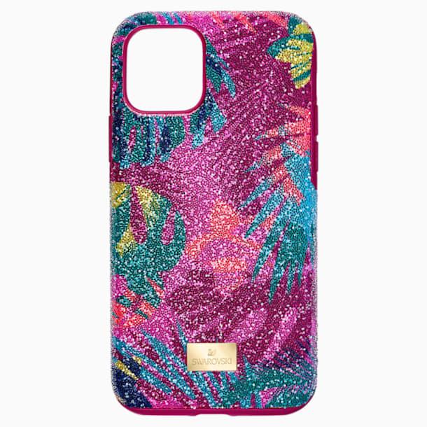 스와로브스키 아이폰 11 프로 케이스 Swarovski Tropical Smartphone Case with Bumper, iPhone 11 Pro, Dark multi-colored