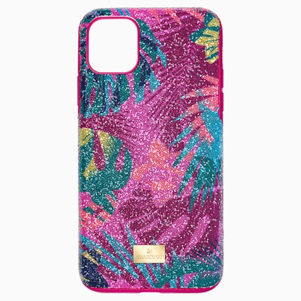 Tropical Smartphone Case with Bumper, iPhone® 11 Pro Max, Dark multi-coloured - Swarovski, 5533963