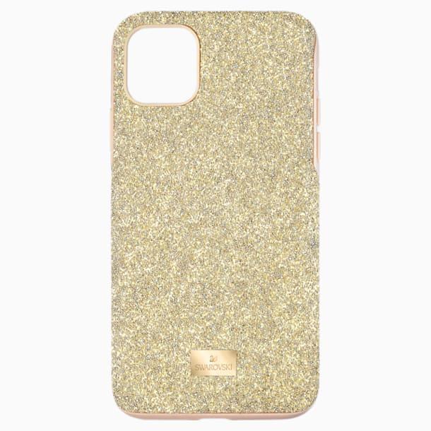 High Smartphone Case with Bumper, iPhone® 11 Pro Max, Gold tone - Swarovski, 5533970