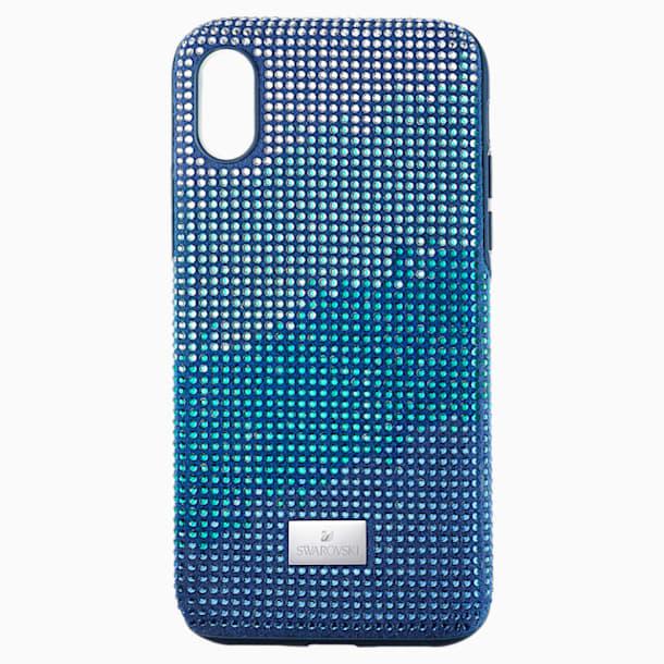 Custodia per smartphone con bordi protettivi Crystalgram, iPhone® XS Max, azzurro - Swarovski, 5533972