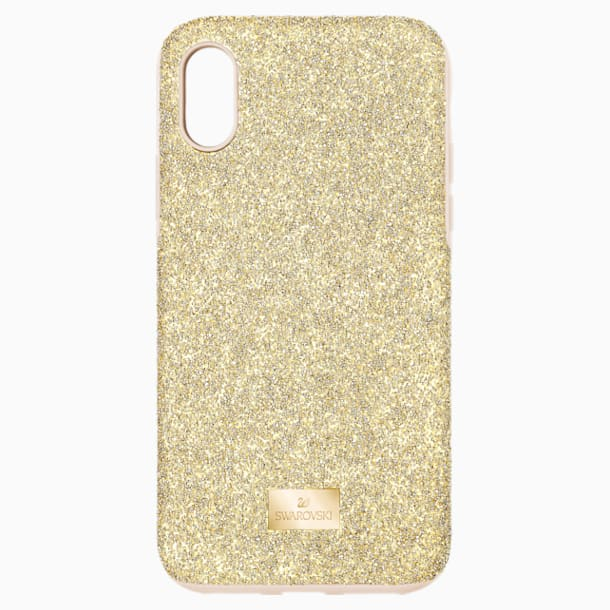 High okostelefon tok beépített ütéselnyelővel, iPhone® XS Max, arany árnyalatú - Swarovski, 5533974