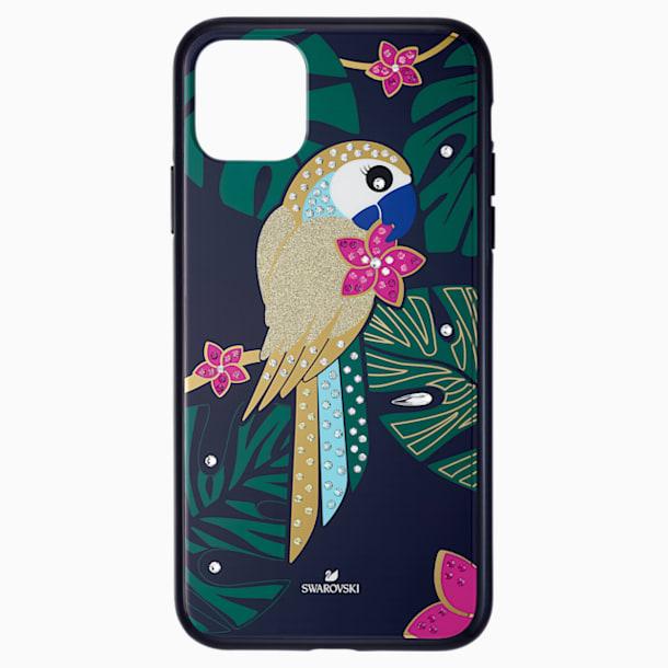 Tropical Parrot Smartphone Case with Bumper, iPhone® 11 Pro Max, Dark multi-colored - Swarovski, 5533976