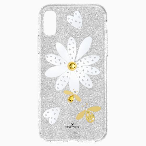 Eternal Flower Smartphone Case with Bumper, iPhone® XS Max, Light multi-coloured - Swarovski, 5533978