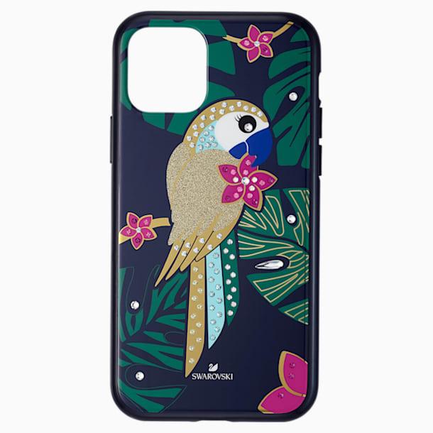 Tropical Parrot Smartphone Case with Bumper, iPhone® 11 Pro, Dark multi-colored - Swarovski, 5534015