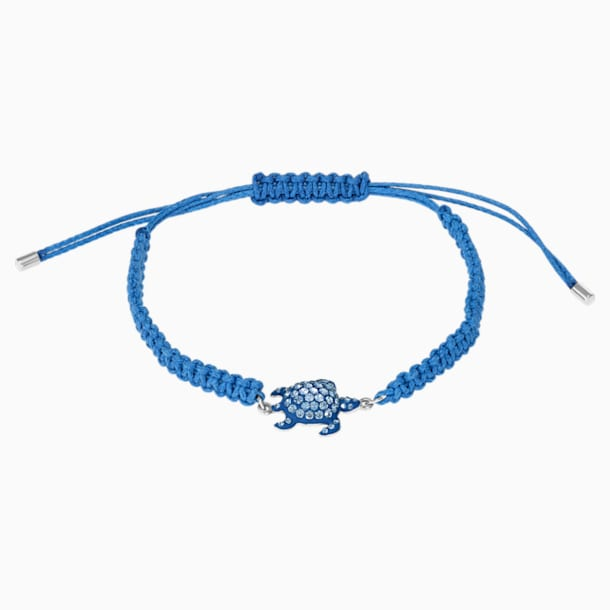 Mustique Sea Life Turtle Bracelet, Blue, Palladium plated - Swarovski, 5534342