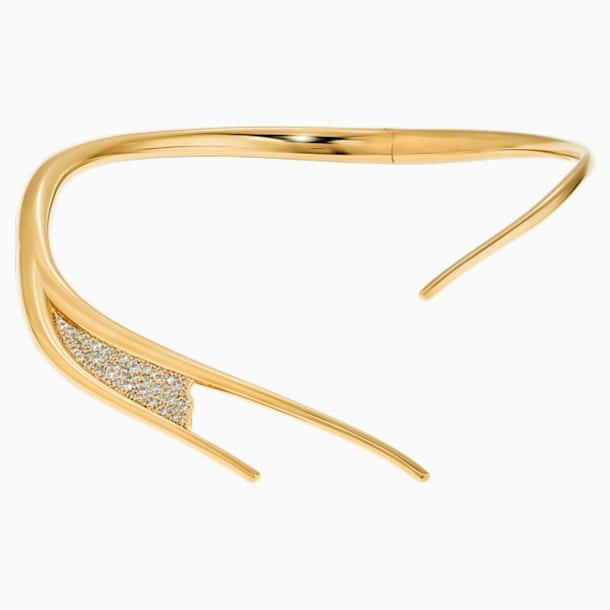 Gilded Treasures Torque Necklace, White, Gold-tone plated - Swarovski, 5534418