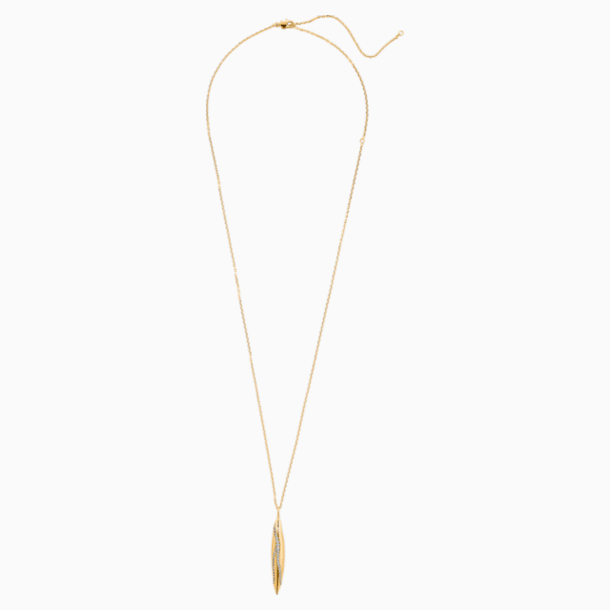 Gilded Treasures Pendant, White, Gold-tone plated - Swarovski, 5534425