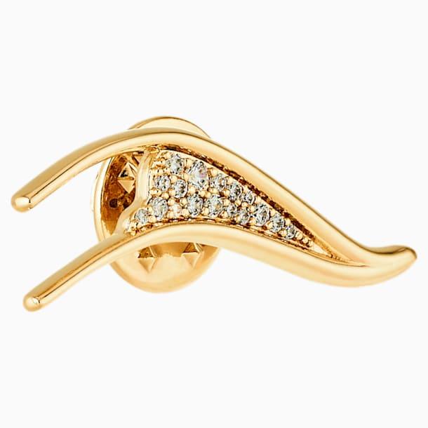 Gilded Treasures-broche, Wit, Goudkleurige toplaag - Swarovski, 5534503