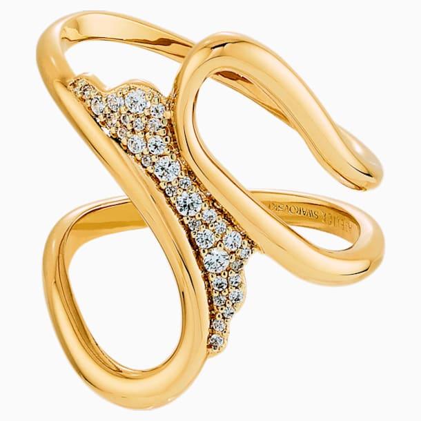Gilded Treasures Кольцо для шарфа, Белый Кристалл, Покрытие оттенка золота - Swarovski, 5534504