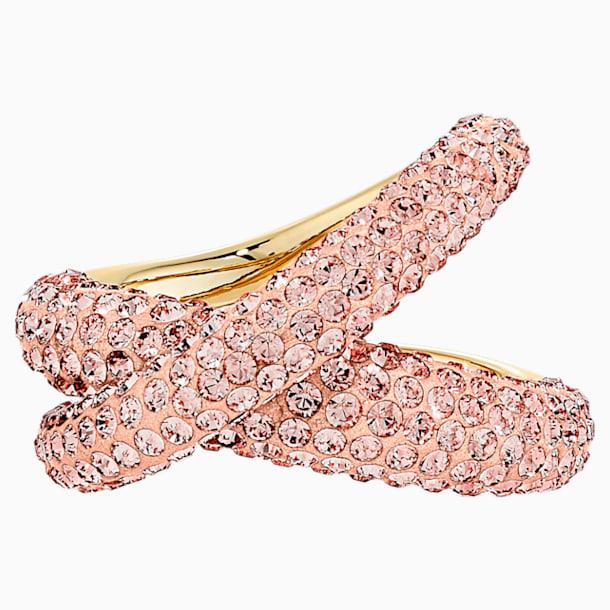 Prsten Tigris, růžový, pozlacený - Swarovski, 5534544