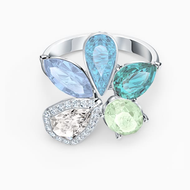 Sunny gyűrű, világos, többszínű, ródium bevonattal - Swarovski, 5534931