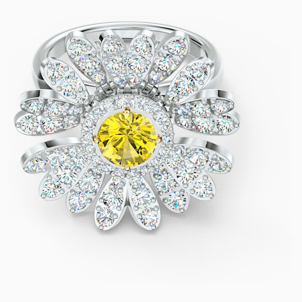 Bague Eternal Flower, jaune, finition mix de métal - Swarovski, 5534936