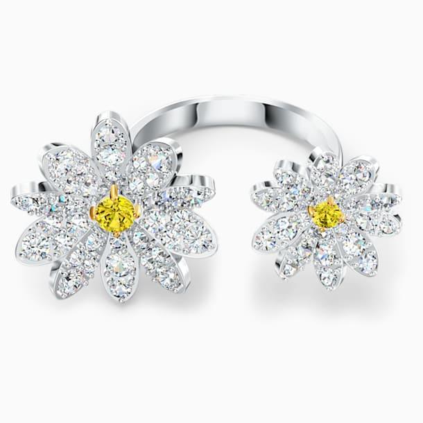 Otevřený prsten Eternal Flower, žlutý, smíšená kovová úprava - Swarovski, 5534941