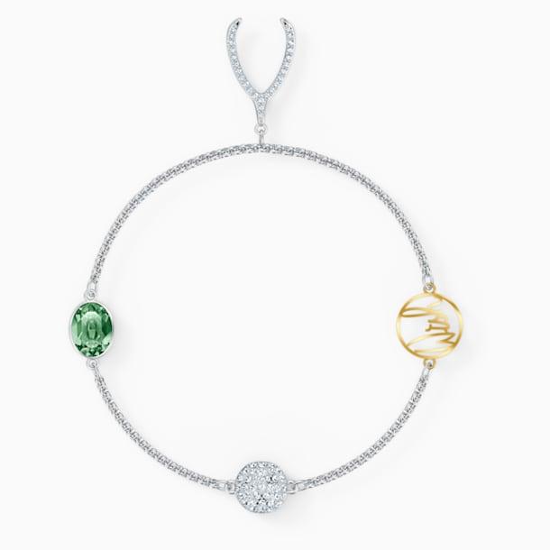 Strand Swarovski Remix Collection Wishbone, vert, métal rhodié - Swarovski, 5535284