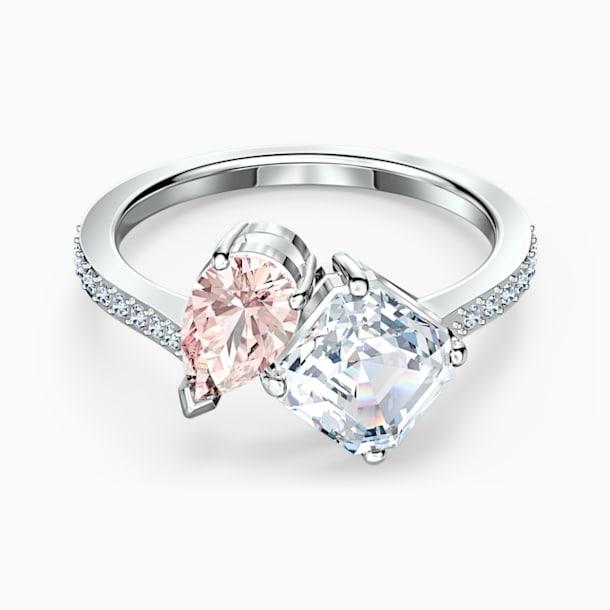 Prsten Attract Soul, růžový, rhodiovaný - Swarovski, 5535285