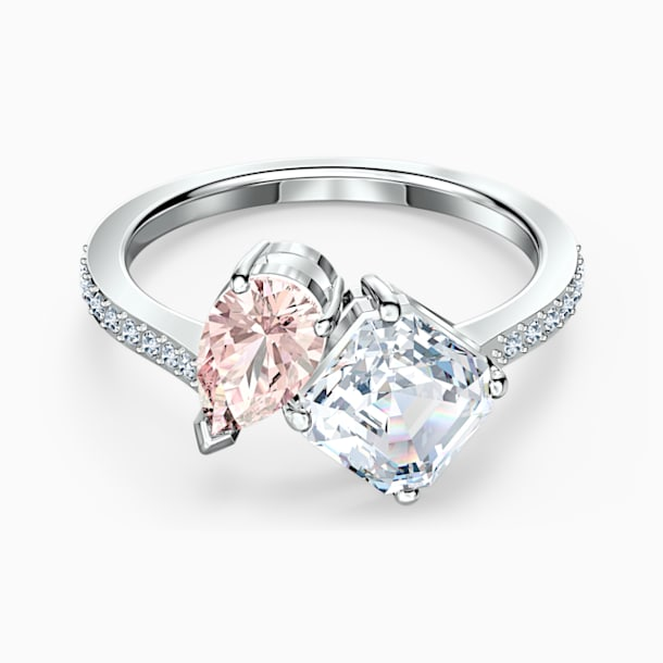 Attract Soul Ring, Pink, Rhodium plated - Swarovski, 5535310