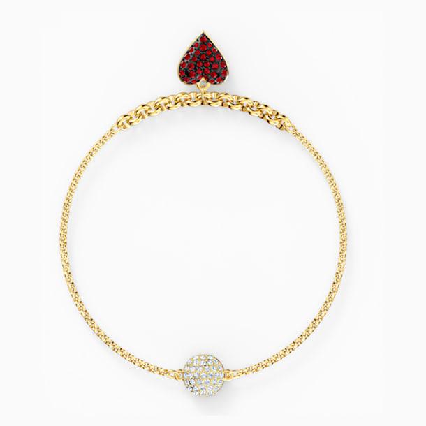Strand Swarovski Remix Collection Heart, rojo, baño tono oro - Swarovski, 5535344