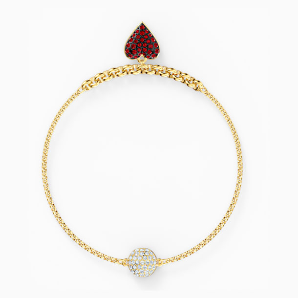 Strand Swarovski Remix Collection Heart, rojo, baño tono oro - Swarovski, 5535346